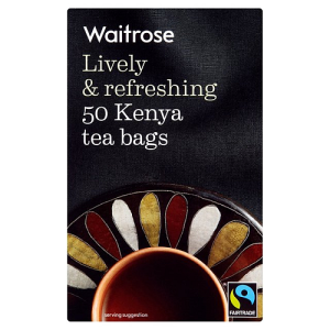 Waitrose Lively & Refreshing 50 Fair Trade Kenya Tea Bags