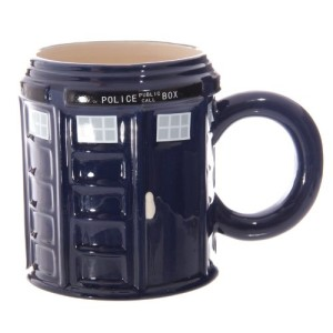 Ceramic Doctor Who Police Box Round Mug