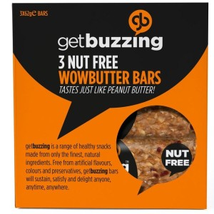 Getbuzzing Nut Free Wowbutter Bars 3 x 62g