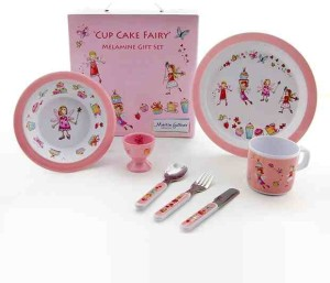 Cup Cake Fairy 7 Piece Melamine Gift Set