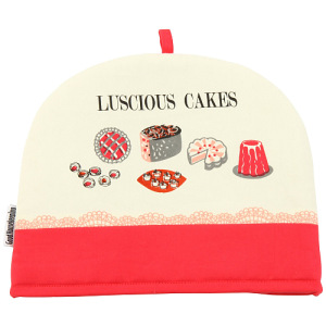 Good Housekeeping Institute Twill Tea Cosy in Luscious Cakes, Red