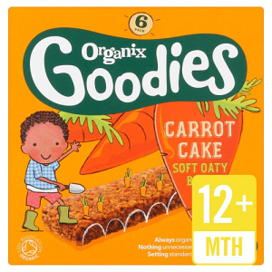 Organix Goodies Organic Carrot Cake Cereal Bar 6 x 30g