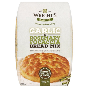Wright's Garlic & Rosemary Focaccia Bread Mix 500g