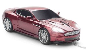 Clickcar Aston Martin Wired Mouse - Red
