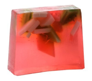 Bomb Cosmetics Strawberry Fields Soap Slice