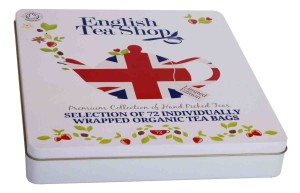 English Tea Shop Diamond Jubilee Assorted Fairtrade and Organic Tea Bags Gift Tin (72 Sachets)