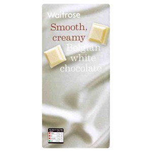 Belgian Smooth Creamy White Chocolate Waitrose 200g