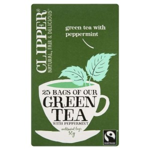 Clipper Fairtrade Green with Peppermint Tea Bags 25 per pack