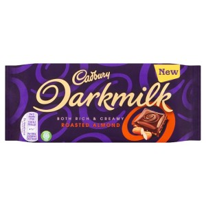 Cadbury Darkmilk Rich & Creamy Roasted Almond Chocolate 85g