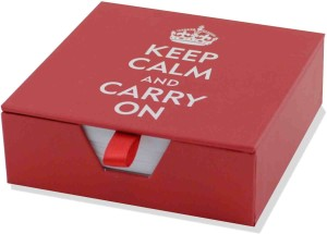 Keep Calm And Carry On Boxed Desk Notes Stationery