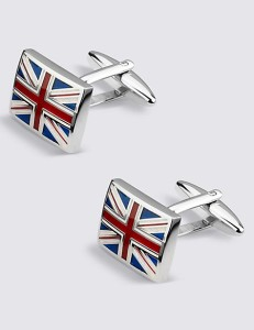M&S COLLECTION Union Jack Rectangular Cufflinks