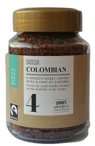 Marks & Spencer Colombian Freeze-Dried Kawa 100g