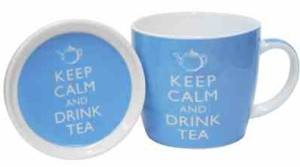 Keep Calm And Drink Tea - Mug And Coaster Set