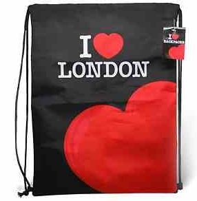 I Love London Souvenir Gym Sack/Backpack