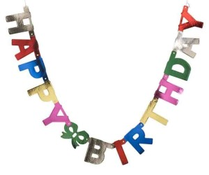 John Lewis Foil Happy Birthday Banner