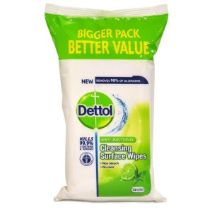 Dettol Antibacterial Surface Cleanser Lime & Mint Wipes 72 per pack