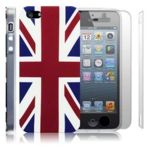 iPhone 5 Union Jack TPU Gel Skin / Case / Cover + 2-in-1 Screen Protector Pack