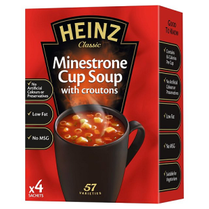 Heinz Minestrone Cup Soup with croutons 4 x 18g