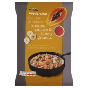 Waitrose Banana, Papaya & Honey Granola 1kg