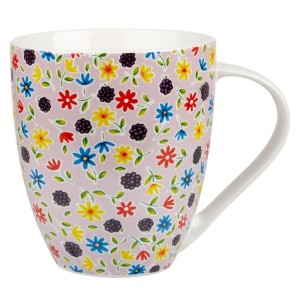Queens Caravan Trail Blackberry Blossom Mug Fine China 500ml