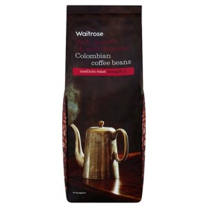 Colombian Coffee Beans Medium Strength 3 Waitrose 227g