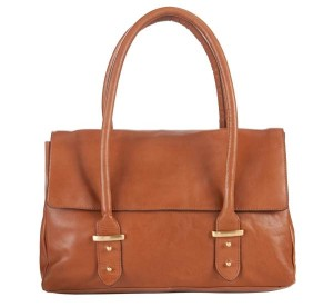 COLLECTION by John Lewis City Leather Double Handle Shoulder Handbag, Tan