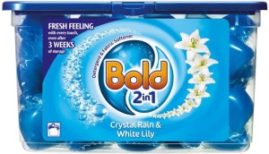 Bold 2 in1 Crystal Rain & White Lily Liquitabs - 33 Washes