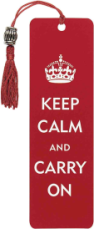 Keep Calm & Carry On Beaded Bookmark