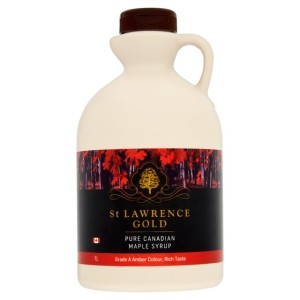 St Lawrence Gold Pure Canadian Maple Syrup Amber Colour, Rich Taste 1L