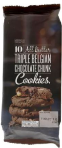 M&S 8 All Butter Triple Belgian Chocolate Chunk Cookies 200g