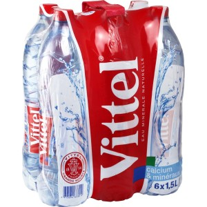 Vittel Natural Mineral Still Water 6 x 1.5L