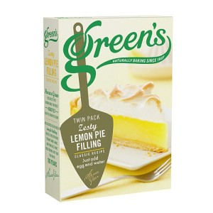 Greens Cakes Zesty Lemon Pie Filling Twin Pack 140g