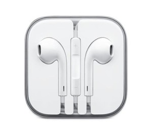 Earphones With Mic and Remote Volume Controls - White