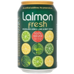 Laimon Fresh Lemon, Lime & Mint Soft Drink 330ml