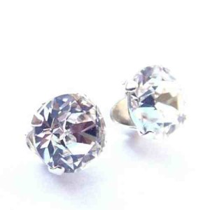 925 Sterling Silver Stud Earrings set with Swarovski Crystal Stones - Gift Box
