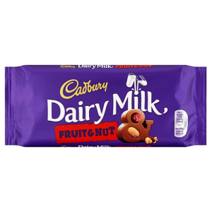 Cadbury Dairy Milk Fruit & Nut Bar 120g
