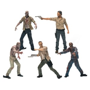 Walking Dead Series Toy 5 Action Figure Pack - Rick Grimes