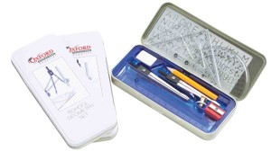 Oxford Educational Supplies Geometry Set in a Tin