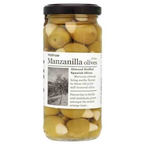 Manzanilla Olives - Almond Stuffed Spanish Olives 240g
