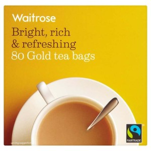 Gold Teabags Waitrose 80 per pack