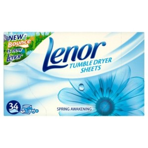 Lenor Tumble Dryer Sheets Spring Awakening 34 per pack