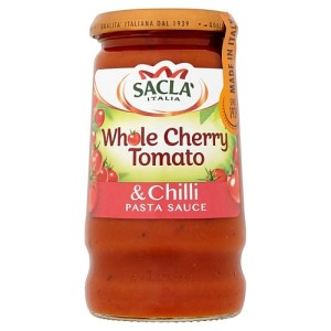 Sacla' Whole Cherry Tomato & Chilli Pasta Sauce 350g