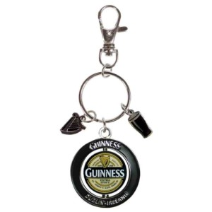 Guinness Label PVC Spinner Keyring