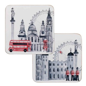 James Sadler Changing of the Guards Coasters, Pack of 4, Boxed