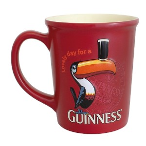 Guinness Large Red Toucan Embossed Mug 400ml