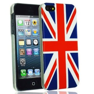 Typeandcolor Apple iPhone 5 Hard Case Cover Union Jack & Screen Protector & Microfibre Polishing Cloth in Retail Pack