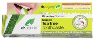 Dr Organic Tea Tree Toothpaste Lemon Mint 100ml