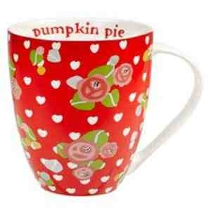 Julie Dodsworth Pumpkin Pie Fine China Crush Shaped Mug, Multi-Coloured