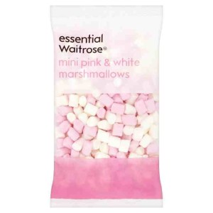 Pink & White Mini Marshmallows essential Waitrose 150g