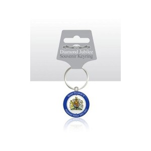 Diamond Jubilee Coat of Arms Spinning Keyring
